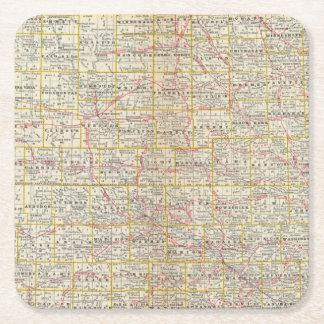 Iowa 6 square paper coaster