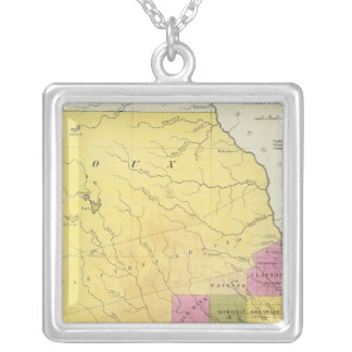 Iowa 7 silver plated necklace