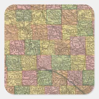 Iowa 8 square sticker