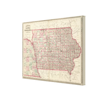 Iowa and Nebraska 2 Canvas Print