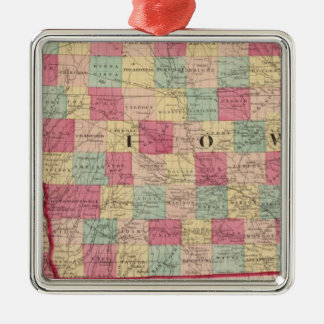 Iowa and Nebraska 2 Christmas Ornament