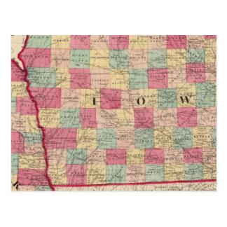 Iowa and Nebraska 2 Postcard