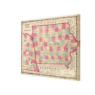 Iowa and Nebraska Canvas Print