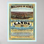 Iowa and Nebraska ~ Vintage Land Sale Advertising. Poster