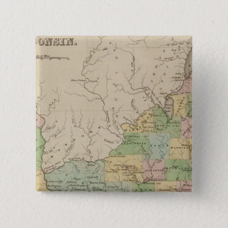 Iowa and Wisconsin 15 Cm Square Badge