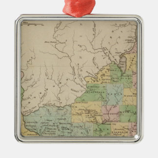 Iowa and Wisconsin Christmas Ornament
