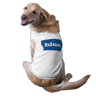 IOWA BLUE STATE SLEEVELESS DOG SHIRT