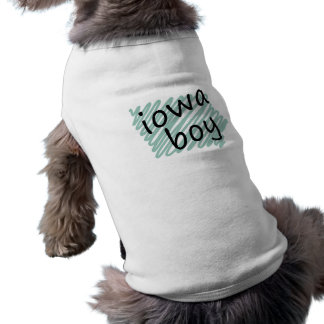 Iowa Boy on Child's Iowa Map Drawing Pet Clothes