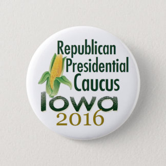 IOWA CAUCUS 2016 6 CM ROUND BADGE