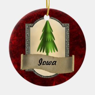 Iowa Christmas Ornament