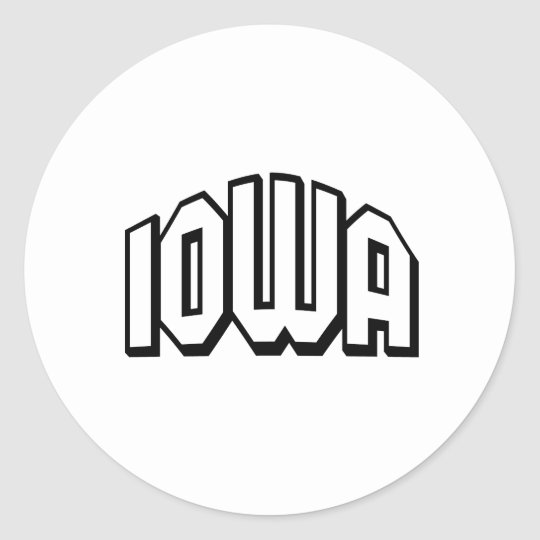 Iowa Classic Round Sticker