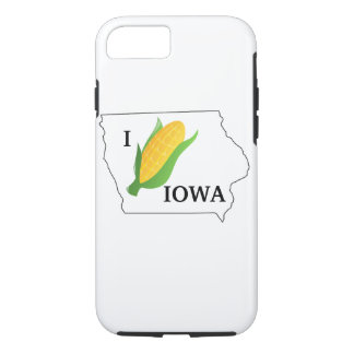 Iowa Corn Shirt- Corny spin off of the I heart NY iPhone 8/7 Case