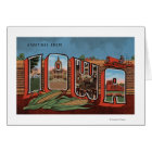 Iowa (Cornfields & Corn) - Large Letter Scenes Card
