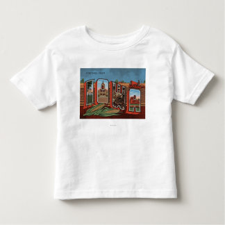 Iowa (Cornfields & Corn) - Large Letter Scenes Toddler T-Shirt