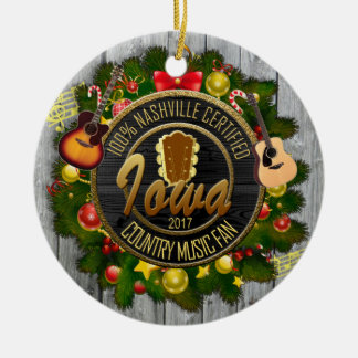 Iowa Country Music Fan Christmas Ornament