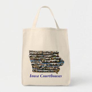 Iowa Courthouses Bag (blue text)