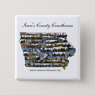 Iowa Courthouses Project 15 Cm Square Badge