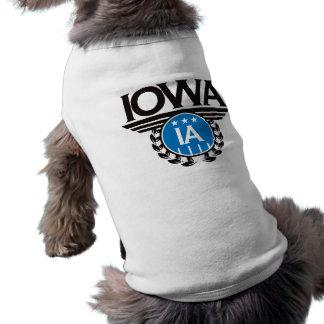 Iowa Crest Design Dog T-shirt