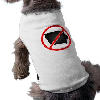 Iowa Cross Out Symbol Doggie T Shirt