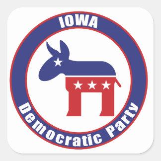Iowa Democratic Party Square Sticker