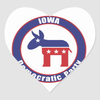 Iowa Democratic Party Heart Stickers