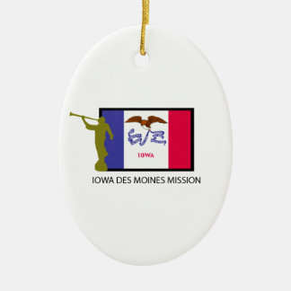 IOWA DES MOINES MISSION LDS CTR CHRISTMAS ORNAMENT