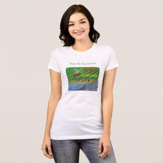 Iowa Farming Fishing Christian Scene T-Shirt