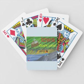 Iowa Fishing Farming Christian Playing Poker Cards