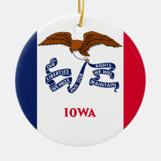 Iowa Flag Christmas Ornament