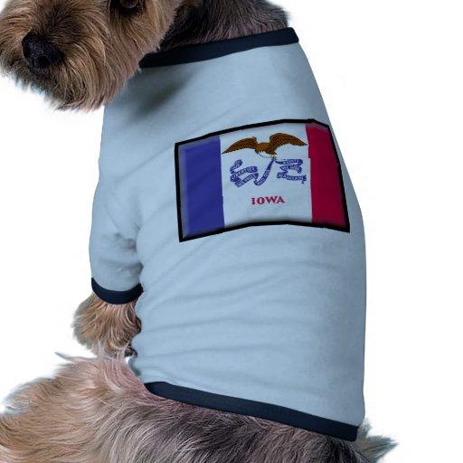 Iowa Flag Pet T-shirt