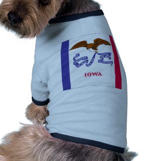 Iowa Flag Dog T Shirt