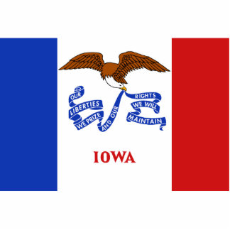 Iowa Flag Magnet Cut Out