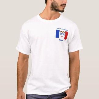 Iowa Flag Map City T-Shirt