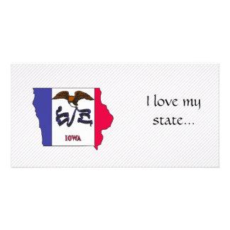 Iowa Flag Map Photo Cards