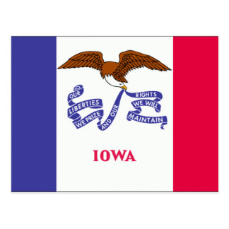 Iowa Flag Postcard