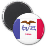 Iowa Flag Refrigerator Magnets