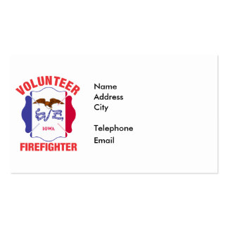 Iowa Flag Volunteer Firefighter Cross Pack Of Standard Business Cards