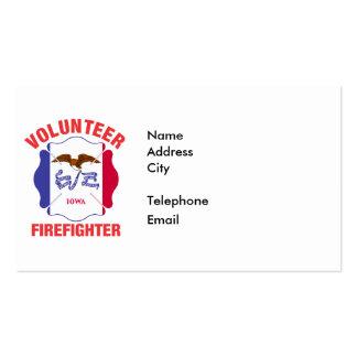 Iowa Flag Volunteer Firefighter Cross Pack Of Standard Business Cards