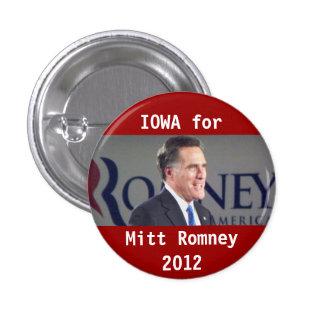 Iowa for Mitt Romney 2012 Photo Political Button