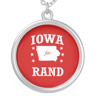 IOWA FOR RAND PAUL ROUND PENDANT NECKLACE