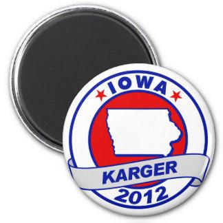 Iowa Fred Karger 6 Cm Round Magnet