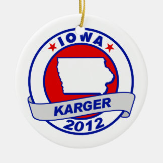 Iowa Fred Karger Christmas Ornaments