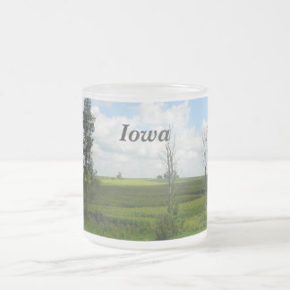 Iowa Frosted Glass Coffee Mug