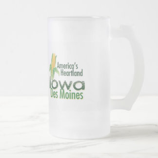 IOWA FROSTED GLASS MUG