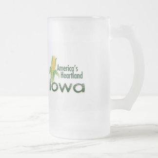 IOWA FROSTED GLASS MUG