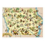 Iowa Funny Vintage Map