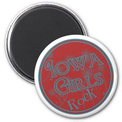 Iowa Girls Rock! 6 Cm Round Magnet