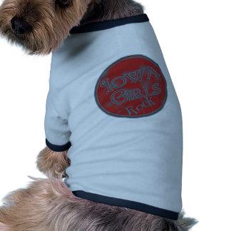 Iowa Girls Rock! Ringer Dog Shirt