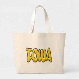 Iowa Graffiti Jumbo Tote Bag
