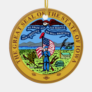 Iowa Great Seal Christmas Ornament